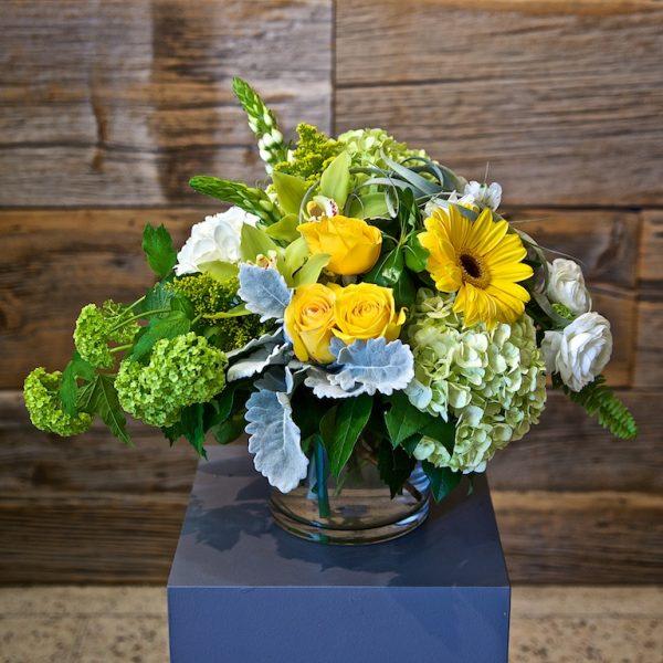 Large Yellow Flower Arrangement