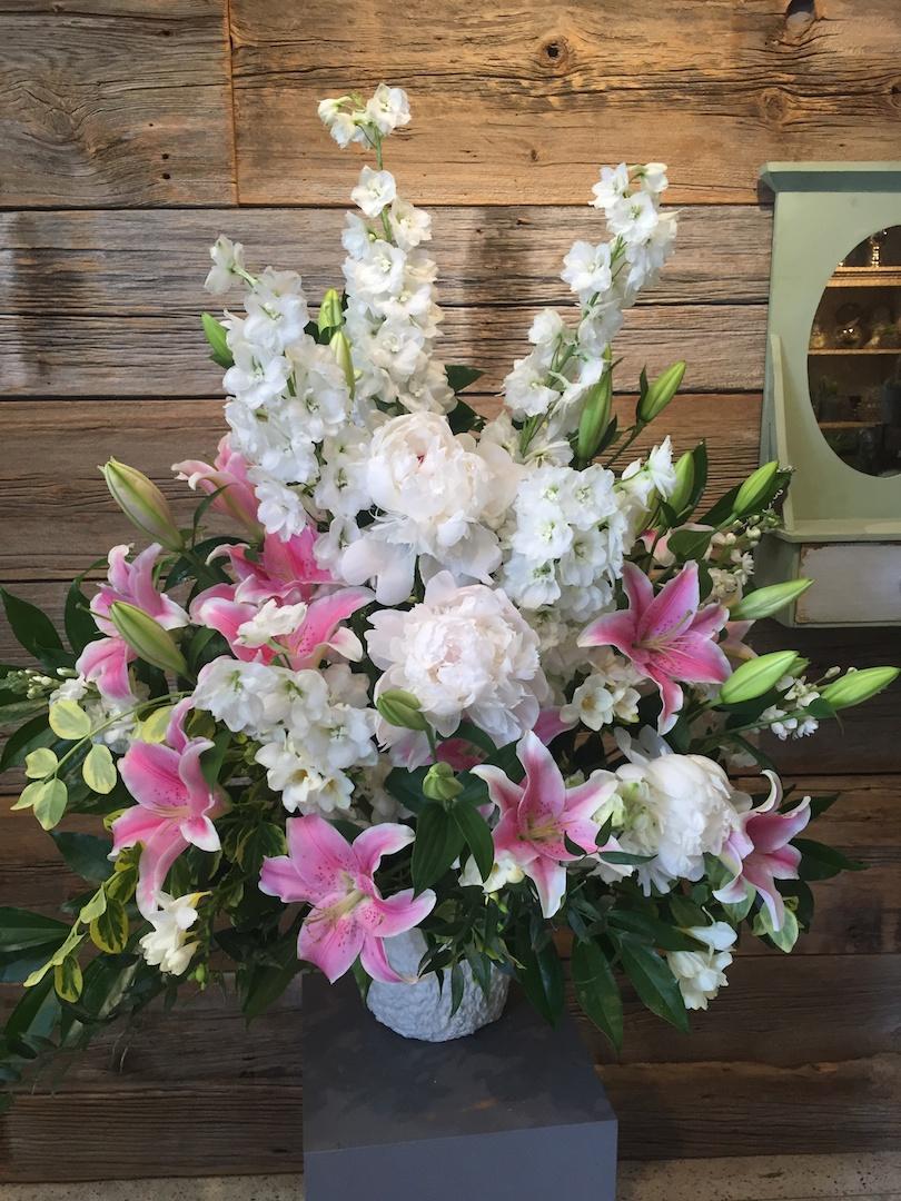 Pink Sympathy Flowers