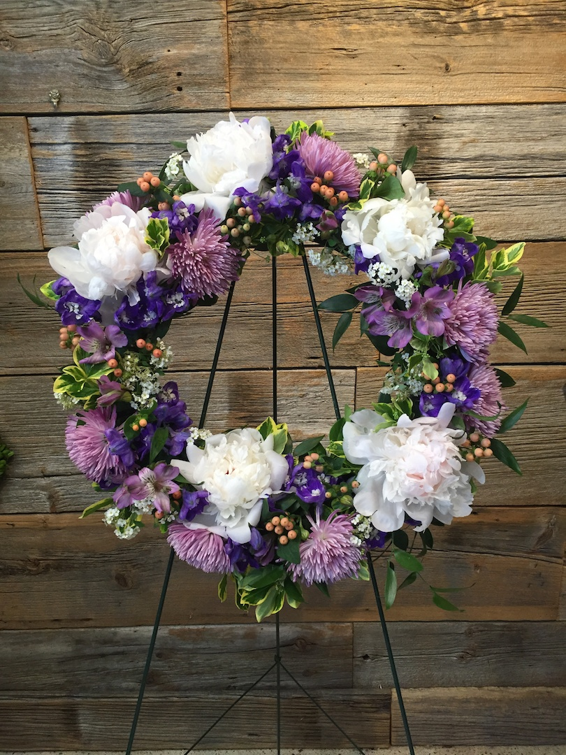 Purple Sympathy Wreath