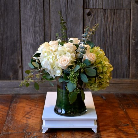 Hydrangea, Eucalyptus and Roses