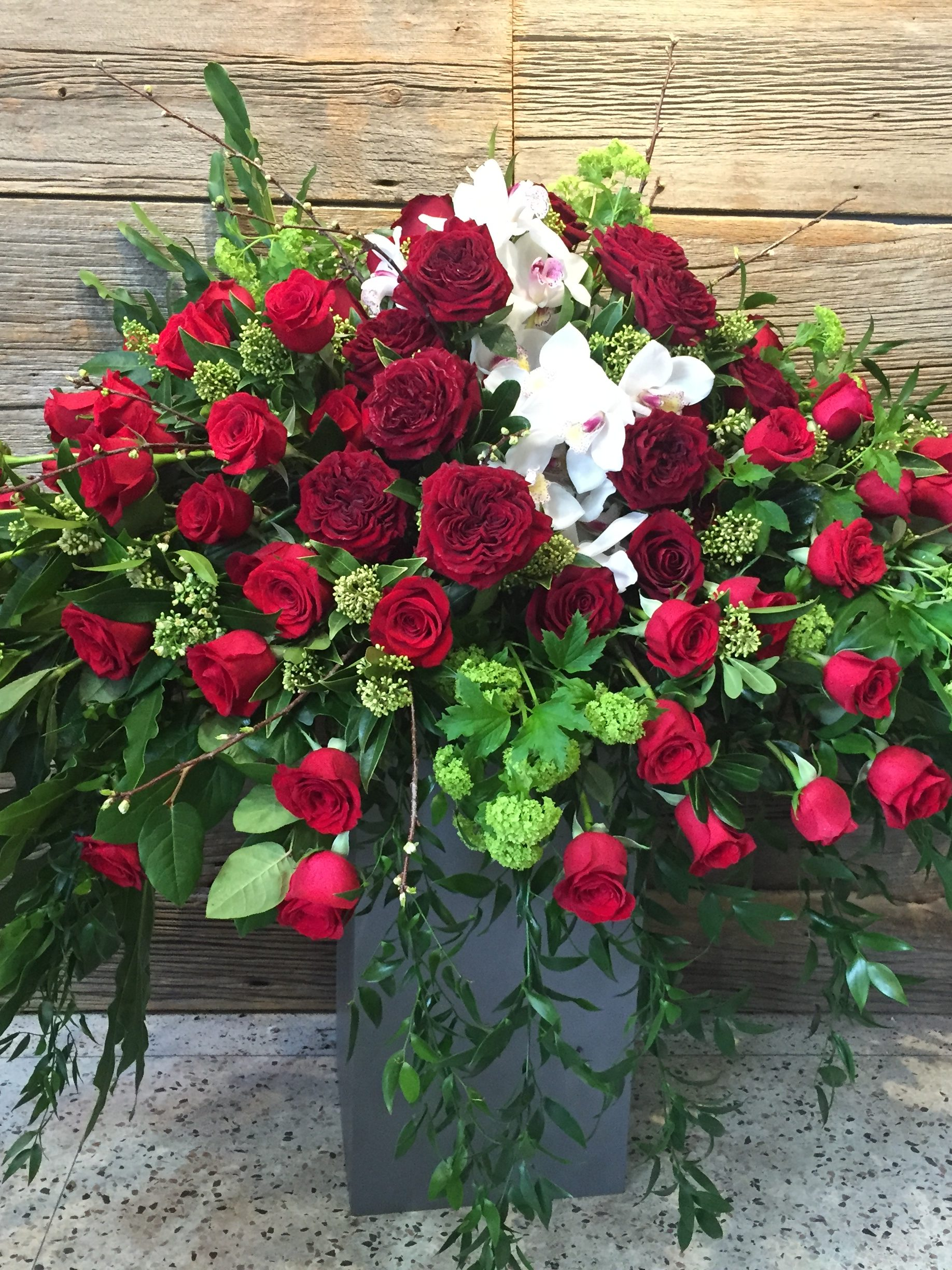 Red Sympathy Flowers