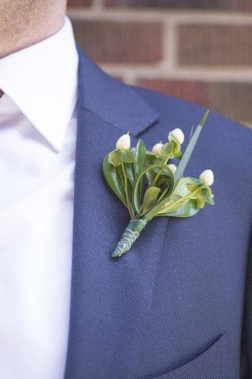 Modern Wedding Boutonnière