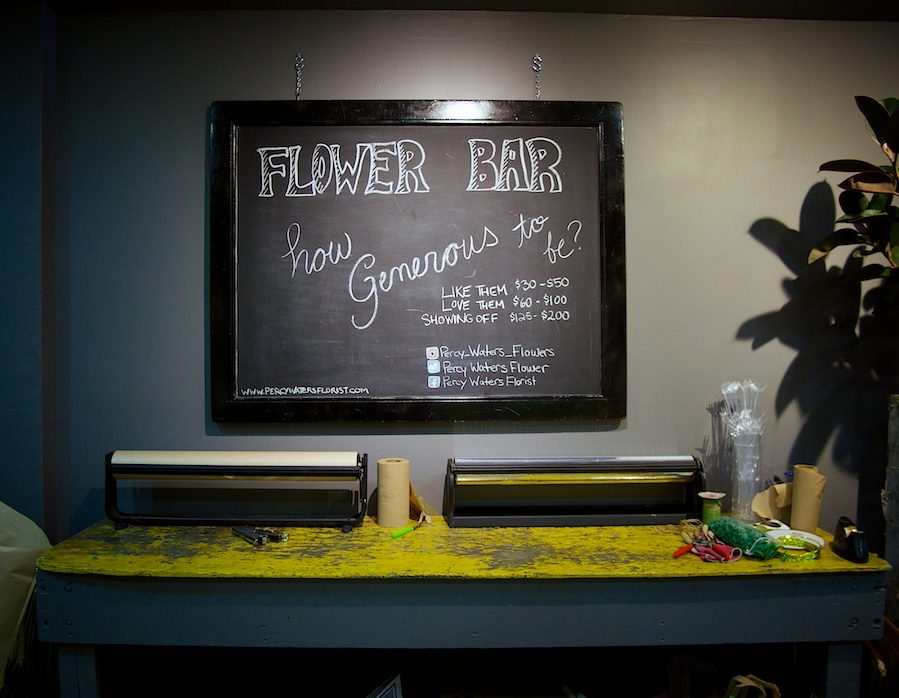 Percy Waters Flower Bar