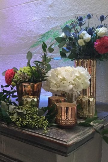 Wedding Flowers Mantel