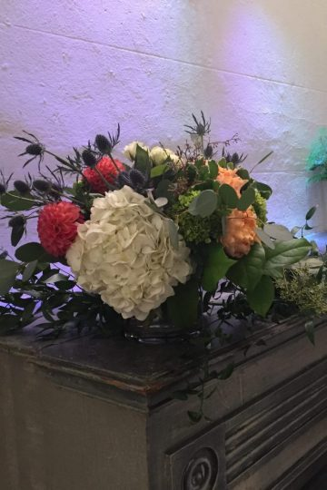 Wedding Flowers Mantel 2