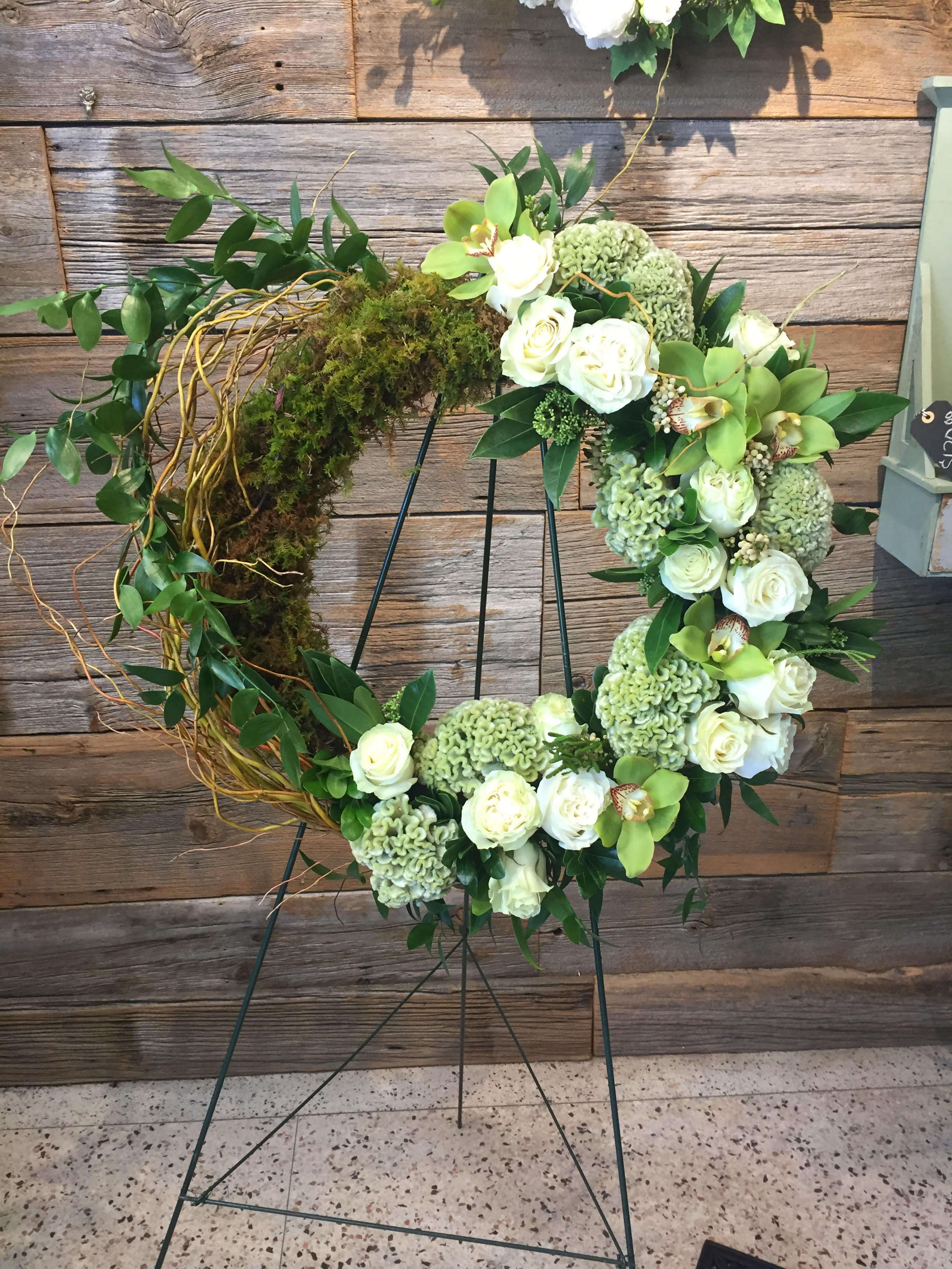Moss and Floral Wreath