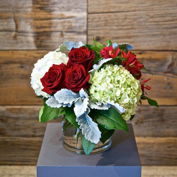 Small Red Flower Arrangement