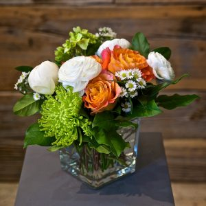 Bright Orange and Coral Arrangements
