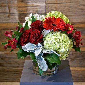 Medium Red Flower Arrangement