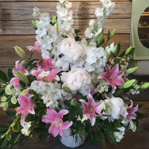 Large Sympathy Flowers Pink Lilies