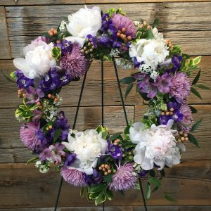 Large Cool Tone Sympathy Wreath