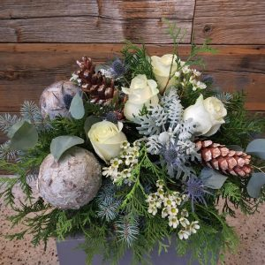 Blue Winter Arrangement