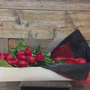 1 Dozen Red Roses Boxed 1411-2