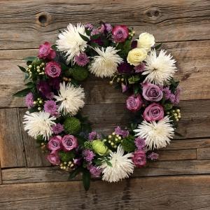Pretty In Purple Wreath
