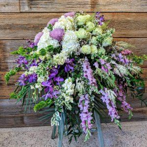 Lovely Lavender Casket Spray