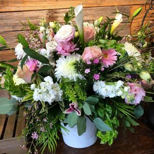Spectacular Pink & White Arrangement